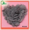 Newest design red sweet chiffon heart patch applique for kids clothing garment - WD109-1
