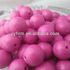 Top selling rose red jewelry acrylic solid beads!Chunky jewelry acrylic beads wholesale!Loose round beads!