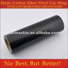 High Quality Matte Texture Black Carbon Fibre Vinyl Car Wrap Sticker Bubble Free