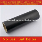 High Quality Matte Texture Black Carbon Fibre Vinyl Car Wrap Sticker Bubble Free