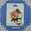 blooming flower pin brooch for bag clothing etc