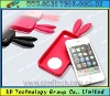 Original high quality mobile phone Rabbit Ears Silicon Case for IPhone4