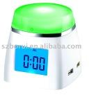 BR-613 Multi-color LCD clock