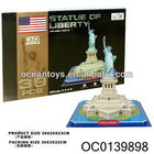 2012 latest 39pcs the model Statue of Liberty 3d puzzle education toys for adult kids--OC0139898
