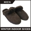 Warm sheepkin slipper Breathable indoor shoes