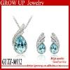 Custom wholesale fashion diamond necklace set