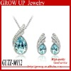 Custom wholesale fashion diamond necklace set