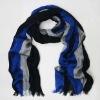 black grey blue striped mens summer scarves