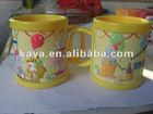 3D cartoon plastic mug cup
