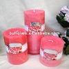 """3""""/4""""/6"""" pink pillar candles"""