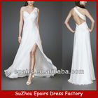 CWD09 Sexy Long bridal dress with handmade flowers white wedding sexy backless dresses