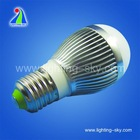 e27/e26/b22 3w 110v high power led ball/bulb light aluminium profile housing