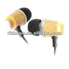wooden in-ear earphone