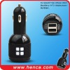 Two usb car charger for Galaxy Tablet, Galaxy S, iPhone,iPod, HTC, Blackberry