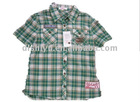 Children's 100% cotton check T-shirt