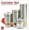 new design metal canister set
