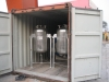 Vertical tanks in stainless steel ss316L with sight glass in middle