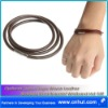 Optional Colors Rope Woven Leather Stainless Steel Bracelet Wristband Hot Gift 001