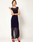 Chiffon Hem Maxi Dress,new design maxi dresses
