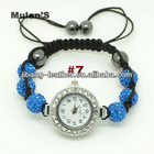 Unique Men's Golden Plated Fashion Shamballa watches 2012