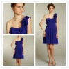 Goingwedding purple one strap chiffon short skirt Bridesmaid Dress 2012 LA0506