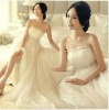 D11 new fashion elegant allure beige bridal dress