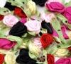 Mixed Ribbon Flowers Wedding Appliques Scrapbook