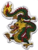 Embroidered Dragon Patch Mascot