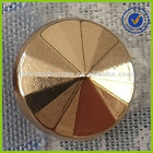 Gold color cone shape button for shirt