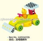 wooden block garfield racing car
