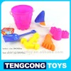 Sand Bucket set/ plastic beach toys 6pcs