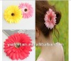 New Style !! 4inch Various Colors Gerbera Daisy Flower w Acrylic Diamond for Hair/Clothes Decoration/Decoyative flowers&wreaths