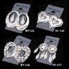 Fashion Silver Plating Hollow Metal Earring Pendant