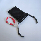 Black Velvet Pouch for MP3 or Jewelry
