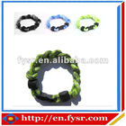 Sports Titanium braided rope bracelets