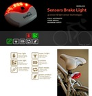 Bike LED Automatic Wireless Sensor Brake Rear Light Flashing Light