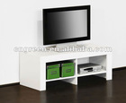 Europe style white glossy lacquer MDF TV stand
