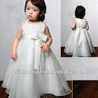 Scoop Neckline Appliqued Organza Children Party Dresses