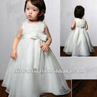 Scoop Neckline Appliqued Organza Children Party Dresses