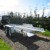 galvanized car trailer/galvanized trailer/transporting the car