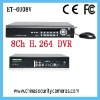 cost effective price 8ch h.264 standalone security dvr
