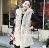 Fur trench coat / Women's jacket / Rabbit fur coat