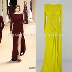 2013 fashion elegant long sleeve evening dress