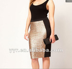 YYH-JS0019 American Style CURVE Pencil Skirt Wholesale Sequin Skirts