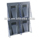 four pockets acrylic brochure display stands