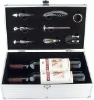 deluxe aluminum wine gift box with accessories