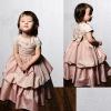 Embroidered Short Sleeve Bodice Flower Girl Dress 2012