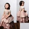 Embroidered Short Sleeve Bodice Flower Girl Dress 2012