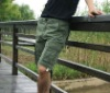 Mens fashionable short cargo pants with pockets