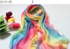 100% Silk Scarf Shawl,6 Mix-color styles,160cm*50cm
